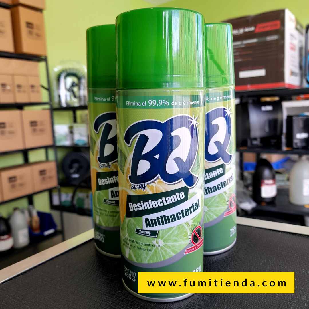 Desinfectante Antibacterial BQ Spray Limón